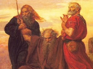 Moses, Aaron and Hur in Battle