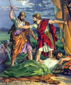 David Steals King Saul's Spear